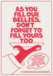 Thank You Delivery Heroes Bellies Poster