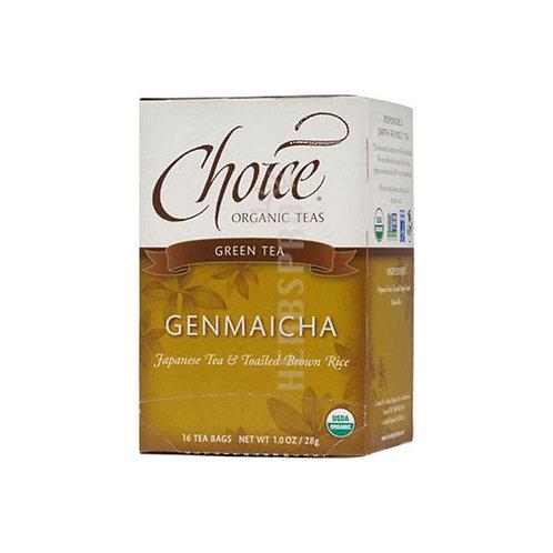 CHOICE ORGANIC TEAS TEA,OG2,GENMAICHA, 16 BAG