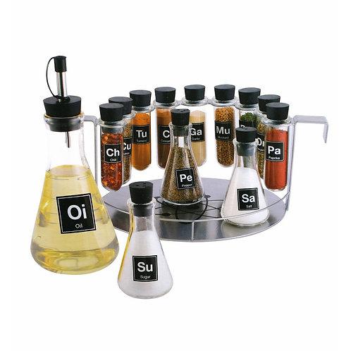 Chemist's Spice Rack 14 Piece Chemistry Spice Rack