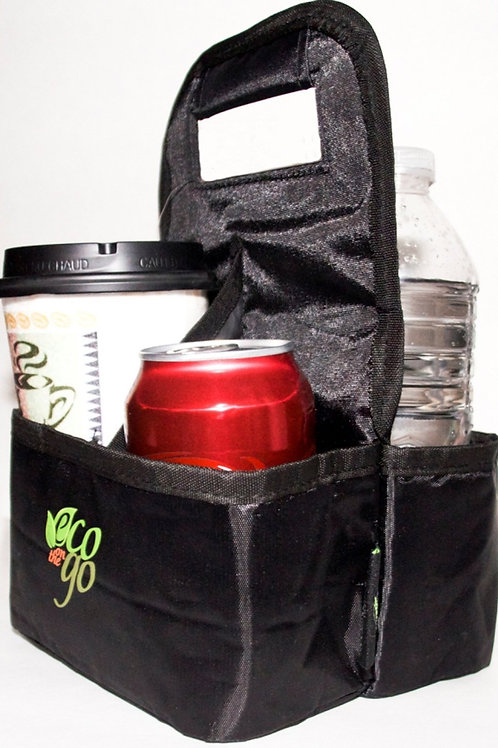 Eco on the Go Reusable Insulated Drink Tote Bag