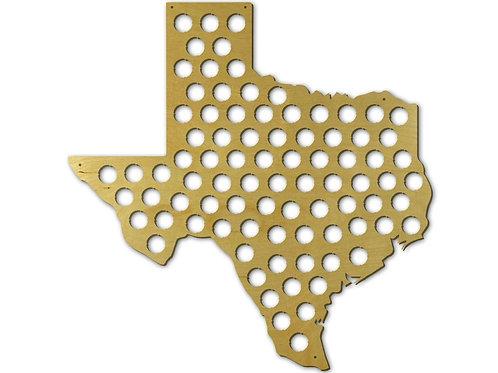 Texas State Beer Cap Map, Beer Bottle Cap
