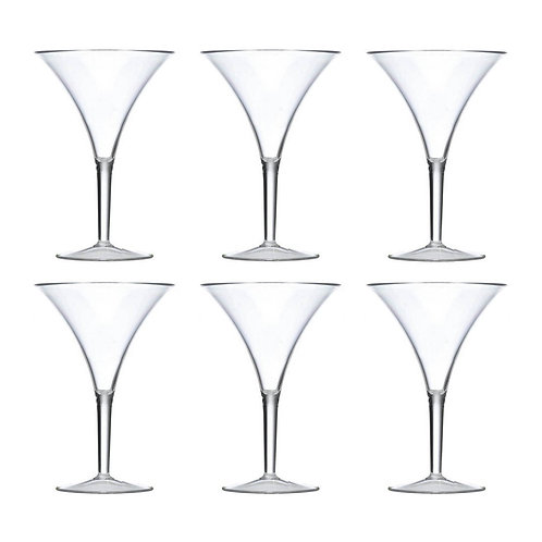 Forever Grand Clear 10 oz Martini Glass, Set of 6