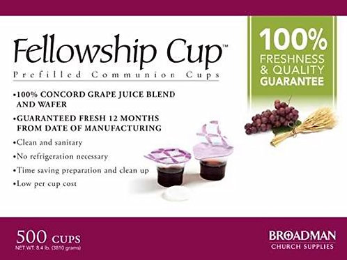 Fellowship Cup Communion Wafer & Juice 500pk