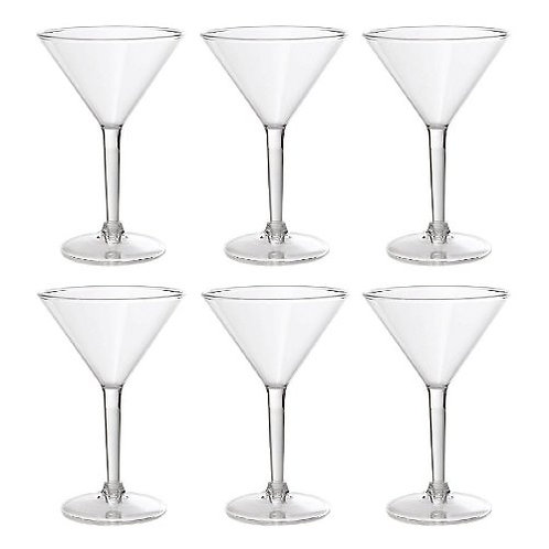 Prodyne Forever Clear 8 oz Martini Glass Set of 6