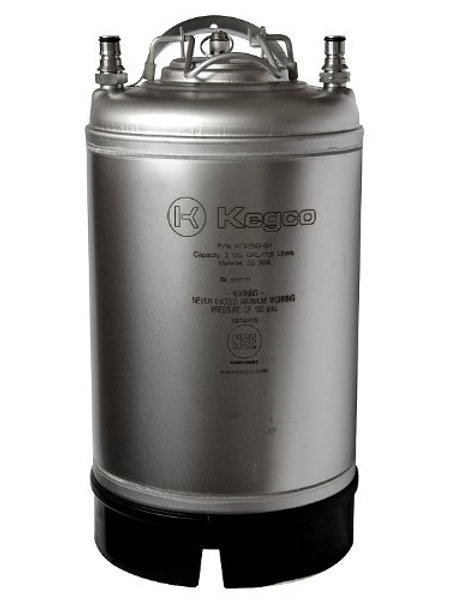 3 Gallon Keg New Ball Lock Beer, Soda or Tea