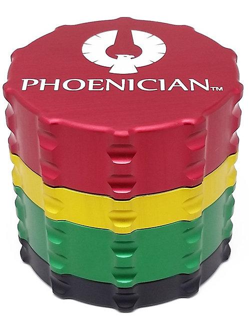 Phoenician Herbal Grinder - Medium 4 Piece - Rasta
