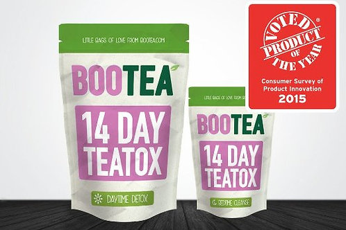 BOOTEA 14 day Teatox 21 bags weight loss/Cleanse/slimming tea/-Daytime&Bedtime