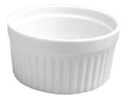 HIC Porcelain Souffle 8-ounce, 3.75-inch, Set of 6