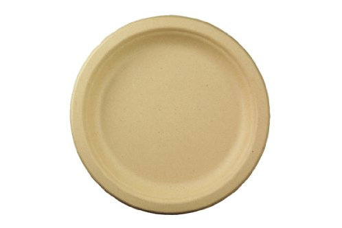 "World Centric Bagasse 7"" Plates (Package of 200)"