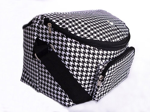 Adult's 12-hour Shift 2sided Lunch Bag Houndstooth