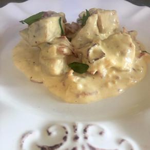 Filete de Cerdo con Tocino a la Mostaza Dijon