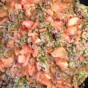Salsa Bolonesa con MUCHAS Verduras para los Ninos!!!!