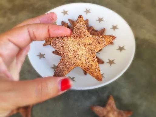 Estrellas de Tortillas con Azúcar y Canela