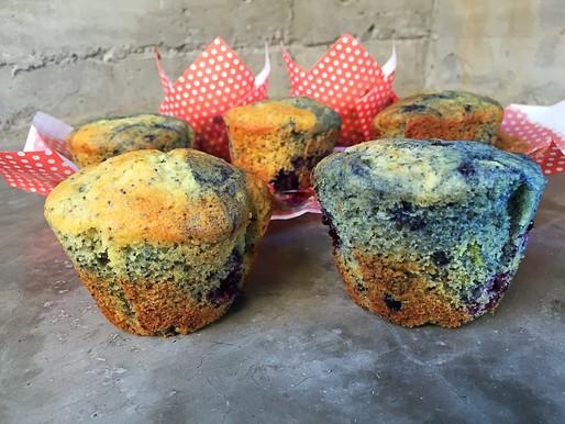 Muffins de Mora, Limón y Amapolas