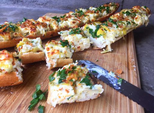 Baguette Con Alcachofas y Parmesano