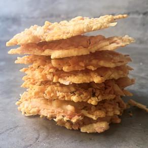 Chips de Parmesano para el Aperitivo.