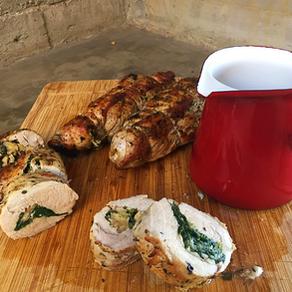 Solomillo Relleno con Espinaca, Prosciutto, Roquefort y Nueces