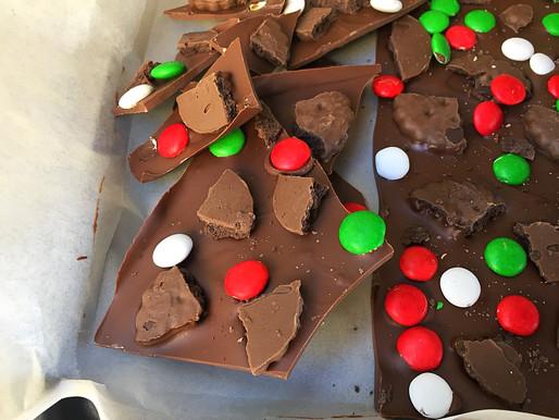 Barras de Chocolates RústicasNavideñas