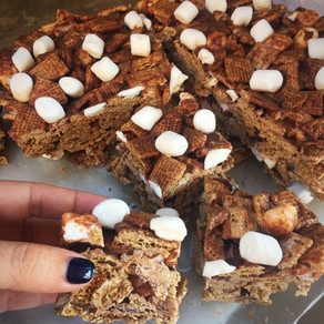 Barritas de Cereal de Trigo Con Marshmallow y Chocolate