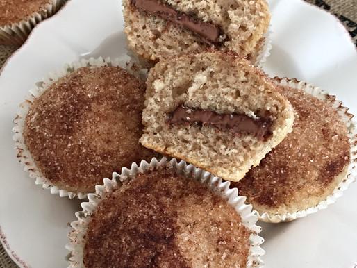 Muffins de Canela Rellenos con Chocolate