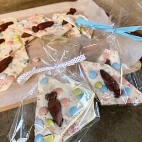 Barras Rústicas Ultra recargadas de Chocolate Blanco Para esta  Pascua