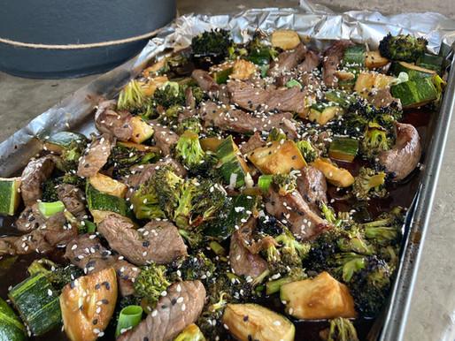 Lomo Liso Asiático con Verduras al Horno (en una sola bandeja)