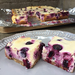 Barritas Cheesecake de Arándanos
