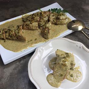 Solomillo al Curry Verde