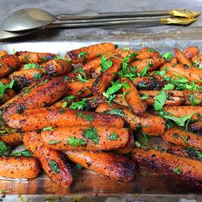 Zanahorias de Cocktail Salteadas en Ricas Hierbas