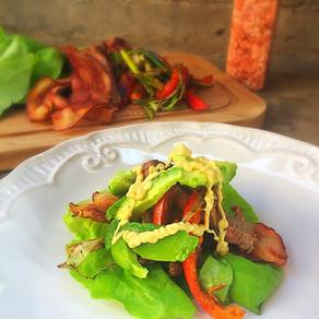 Fajitas de Filete en Wraps de Lechuga