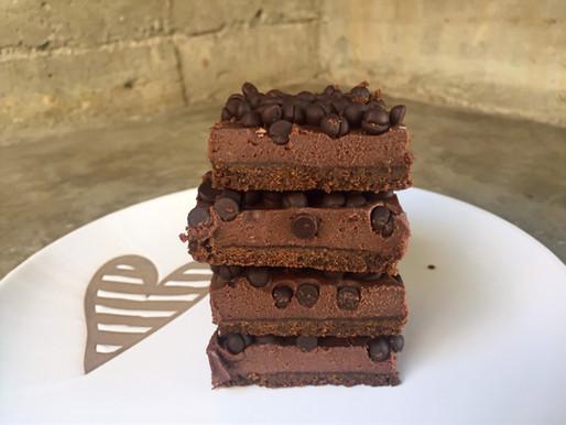 Barritas de Cheesecake de Chocolate (sin horno)