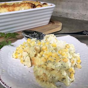 Delicioso Guiso de Pollo Choclo Arroz y Amapolas