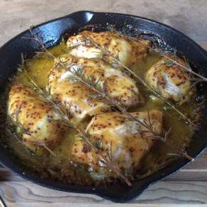 Pollo con Romero a la Mostaza y Miel
