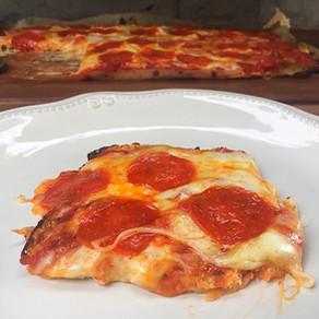 Pizza de Pepperoni con Masa de Coliflor
