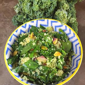 Cous Cous con Kale, Espinaca y Pistachos