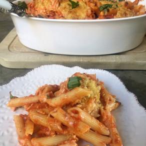 Deliciosa Pasta al Horno Con Pollo y Mozzarella