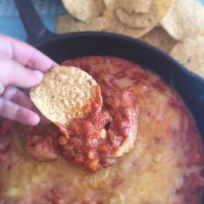 Dip de Queso y Carne para Nachos