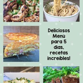 Menu para esta semana, les dejo 5 platos variados para no pensar!