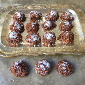 Galletas de Coco, Avena y Cacao Sin Horno