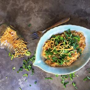 Risotto Tailandes Con Solomillo a la Sriracha