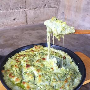 Delicioso Dip de Pesto y Queso