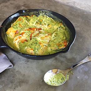 Pollo al Pesto y Queso Parmesano