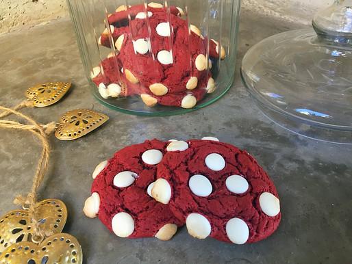 Galletas Red Velvet con Chocolate Blanco Express