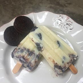 Helados de Cookies and Cream en Palito