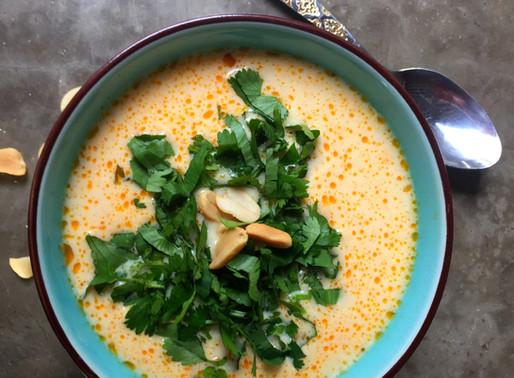 Sopa Thai con Camarones