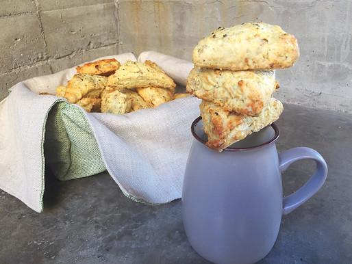 Scones de Queso Roquefort y Nueces