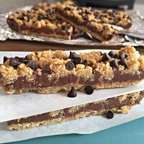 Barritas de Avena con Chocolate y Mantequilla de Maní, (no necesitan horno)