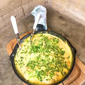 Pollo Cremoso a la Salsa Verde