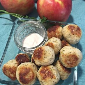 Bolitas de Pollo y Manzana