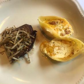 Pasta de Conchitas Rellenas con Zapallo y Ricota